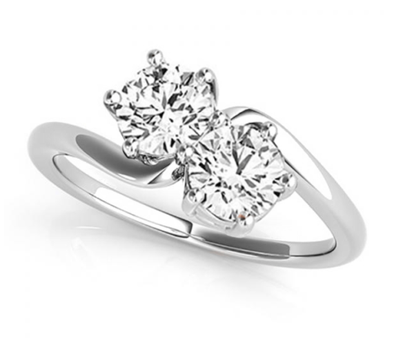 1.00CT two Stone ring
