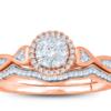 .25Ct Diamond ring 14k Rose gold