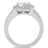 Split shank Pave halo Diamond engagement ring 14K white gold 1.00ct