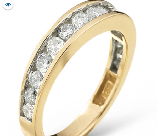 1.00Ct Diamond ring Wedding Band