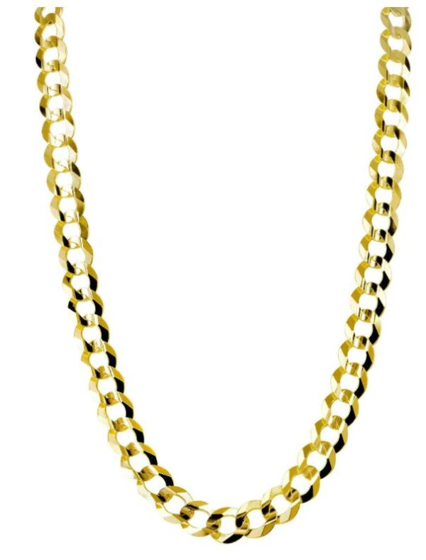14K Gold Chain – Solid Cuban Link Chain