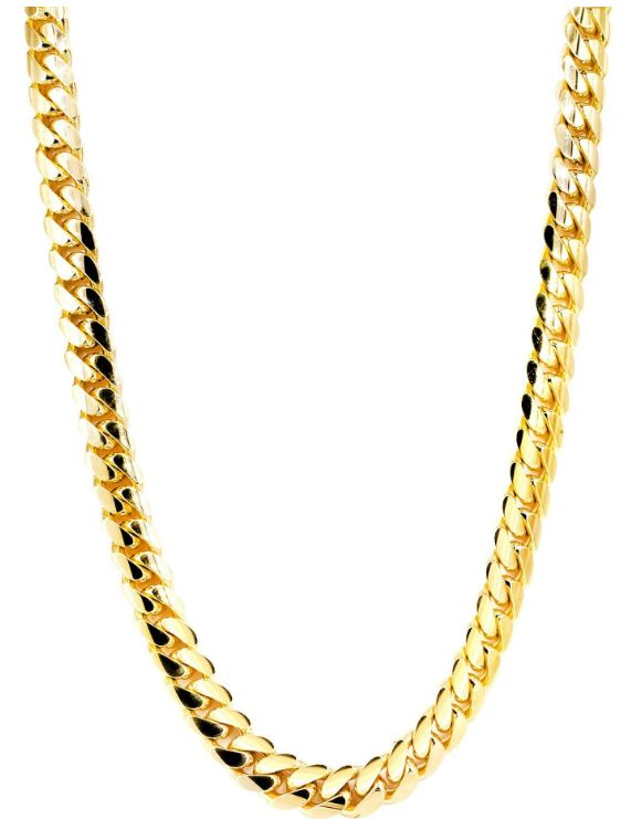 14K Gold Chain – Solid Miami Cuban Link Chain 14K Gold