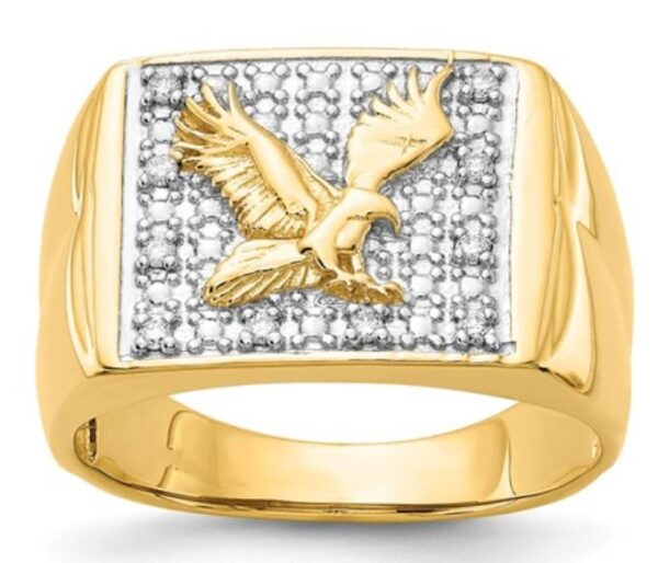 14k Eagle Diamond Ring