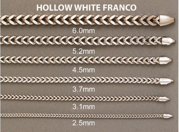 HOLLOW WHITE GOLD FRANCO
