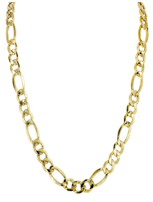 Mens hollow figaro Chain 10k